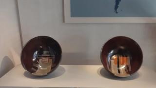 Peças de cerâmica presenteadas por Marisa Letícia à família Bush