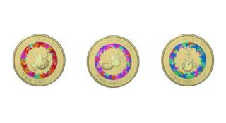 Colourful coins designed by the Royal Australian mint celebrate the children's book Possum Magic