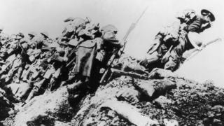 British troops during the Battle of the Somme
