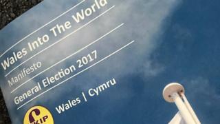 UKIP's Welsh manifesto cover