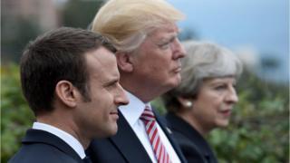 Hadallo kulul oo ay iswaydaarsadeen Trump iyo Macron