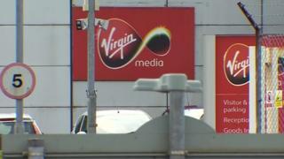 The Virgin Media base in Llansamlet, Swansea
