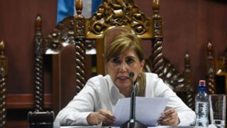 Dina Ochoa, presidenta de la Corte Constitucional guatemalteca.