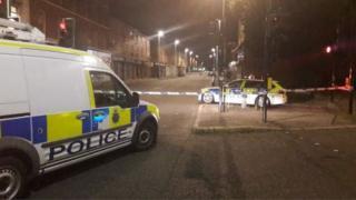 Crime scene in Birkenhead