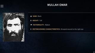 FBI image of Mullah Omar
