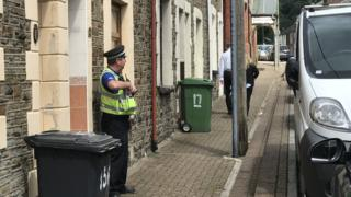 Police in Penrhiwceiber