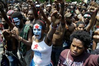Unjuk rasa mahasiswa Papua