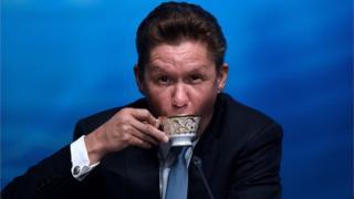 """Глава """"Газпрома"""" Алексей Миллер прокомментирует окончательное решение Стокгольмского арбитража"""
