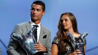Weeraryahanka kooxda Real Madrid Cristiano iyo Lieke Martens