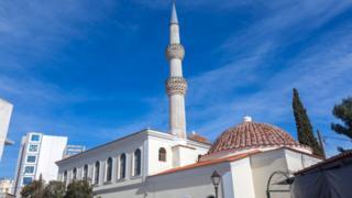 Batı Trakya'da Gümülcine'de bir cami