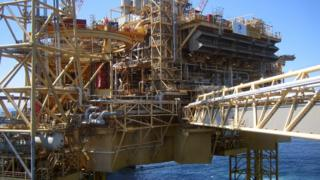 Total Elgin-Franklin oil and gas platform in the North Sea