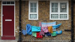 Washing outside a flat