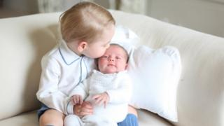 The duchess took this photo of her two children in mid-May at Anmer Hall in Norfolk