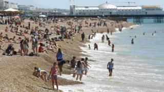 Brighton beach on 30 June