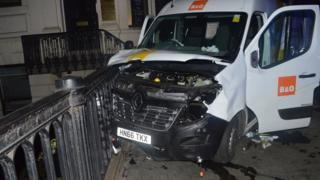 The van used in the London Bridge attack