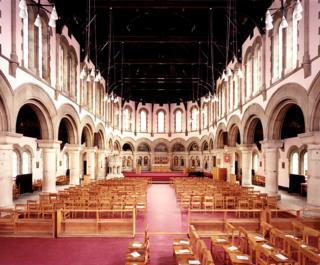 Interior chapel, HMP Wormwood Scrubs, London