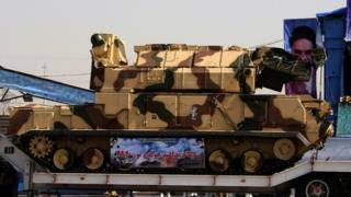 File photo showing Iranian Tor-M1 missile system at a military parade in Tehran on 22 September 2009
