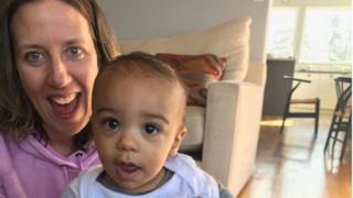 Lindsay Gottlieb with her son, Jordan