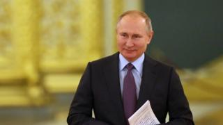 Vladimir Putin attends the Council on Human Rights in Moscow