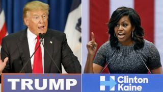 Donald Trump na Michelle Obama