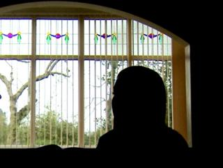 Silhouette of former child in care