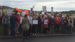 Protests against housing development on Tuesday
