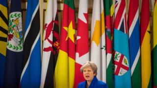 Theresa May at the summit