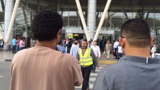 Scene outside Cairo airport on 19 May 2016