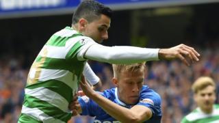 Celtic's Tom Rogic and Rangers' Ross McCrorie