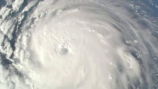Hurricane Florence seen from above