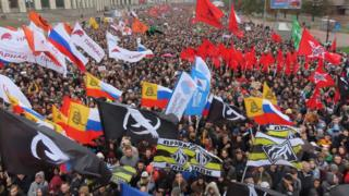 Thousands demonstrate in Moscow on Sunday 29 September