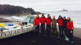 Polar Row crew members