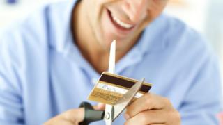 Snipping credit card