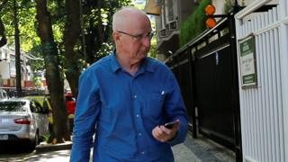 Pat Hickey after leaving jail in Brazil