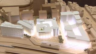 A model of the new BBC HQ
