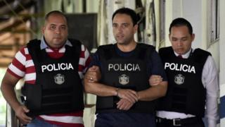 Imagen del arresto de Roberto Borge en Panamá en junio de 2017.