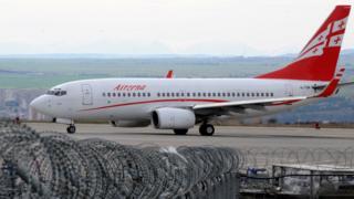 самолет грузинской компании