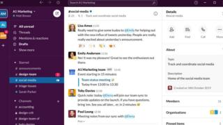 Technology Slack is designed to make it easier for co-workers to communicate with one another.