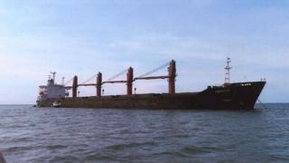 صورة للسفينة المحتجزة غير محددة التاريخ