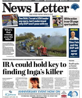 Front page of the News Letter on Monday