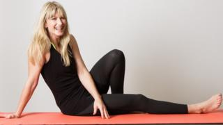 Rachel doing Pilates