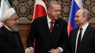 بوتن وأردوغان وروحاني