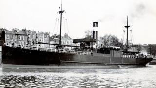 SS Cato c.1914 by local photographer Vaughan-Jenkins