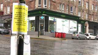 M&D Green pharmacy in Port Glasgow