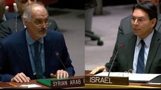 بحث مجلس الأمن الدولي ب قضية هضبة الجولان خلال جلسة طارئة بطلب من دمشق بعد اعتراف الرئيس الأميركي دونالد ترامب بسيادة إسرائيل على الهضبة يوم الإثنين 25 مارس 2019.