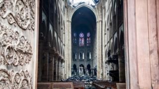 Pictures of Notre Dame after a devastating fire in April 2019