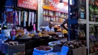 متجر صغير لبيع السلع في الهند
