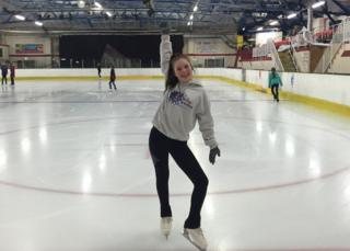 Basic Novice B skater Captain of Wight Sparkles Toni Delap returns to home ice.