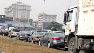 Heavy traffic for Admiralty circle Plaza