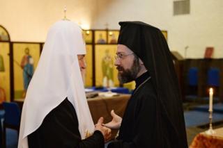 патриарх Московский и всея Руси Кирилл и архиепископ Иов